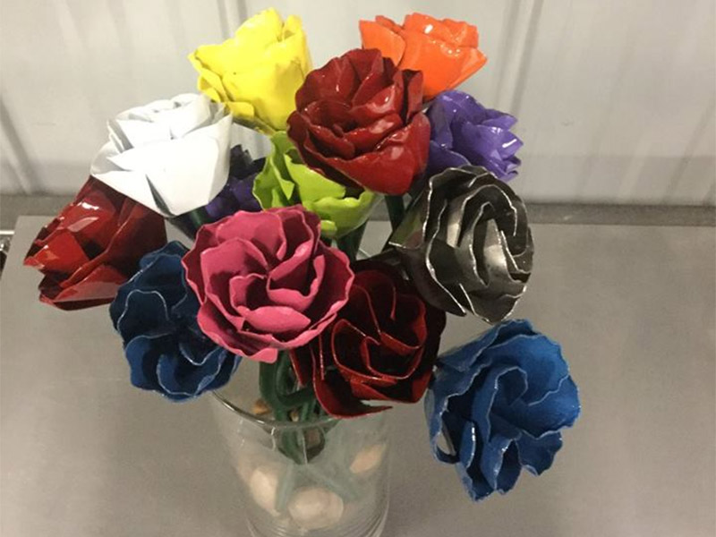 Custom Metal Flowers